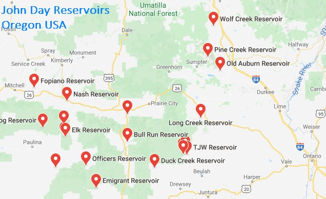 John Day Reservoirs Oregon USA